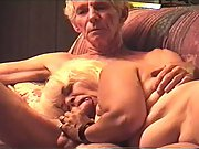 MATURE GRANNY OLDER PORN BLOWJOB WHILE WATCHING TELEVISION